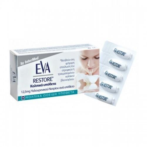 InterMed EVA Restore Ovules pH 3.8 10 κολπικά υπόθετα