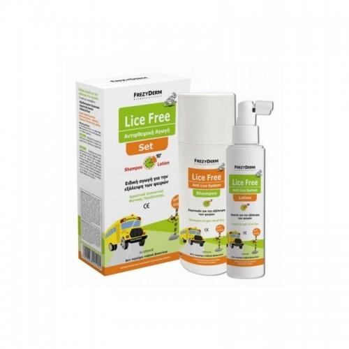 FREZYDERM Lice Free Set - Αντιφθειρική αγωγή 2x125ml