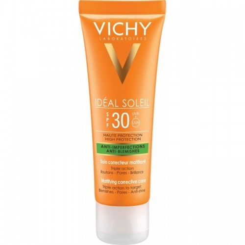 VICHY IDEAL SOLEIL Anti Imperfections Anti Blemishes SPF30 50ml με Στοχευμένη Δράση κατά των Ατελειών,των Πόρων & της Γυαλάδας