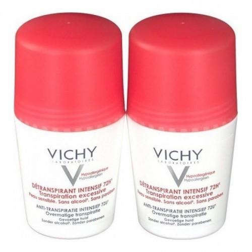 VICHY Roll-on Deodorant Εντατική Αποσμητική Φροντίδα 72h 2x50ml 1+1