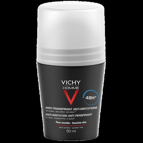 VICHY HOMME Roll On Deodorant 48ωρη Αποσμητική Φροντίδα για ευαίσθητες επιδερμίδες 50ml