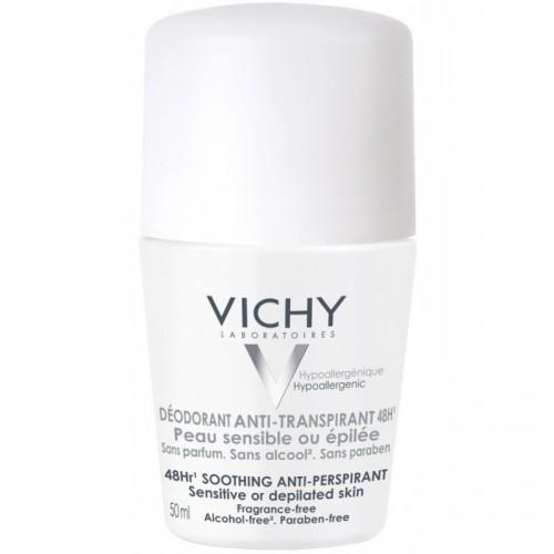 VICHY Roll-on Deodorant 48ωρη Αποσμητική Φροντίδα για ευαίσθητες επιδερμίδες 50ml