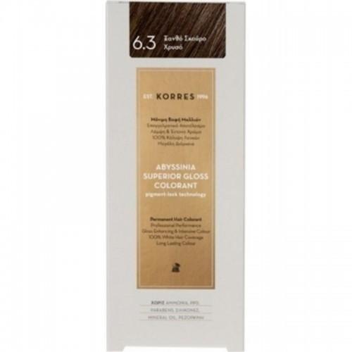 KORRES Βαφή Abyssinia 6.3 Ξανθό Σκούρο Χρυσό 50ml