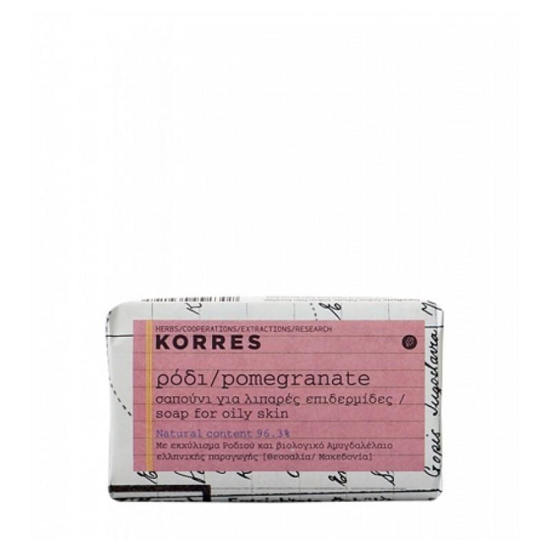 KORRES Σαπούνι ρόδι για Λιπαρές και Μικτές Επιδερμίδες 125gr