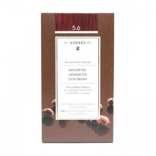 KORRES Argan Oil Bαφή Mαλλιών 50ml 5.6 Καστανό Ανοιχτό Κόκκινο