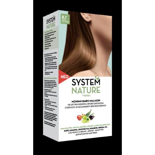 Μόνιμες βαφές μαλλιών System Nature 8.7 ΞΑΝΘΟ ΤΗΣ ΑΜΜΟΥ