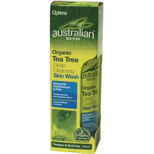 Organic Tea Tree Deep Cleansing Skin Wash 250ml