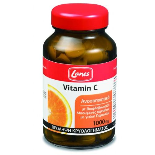Lanes Βιταμίνη C 1000mg με Βιοφλαβονοειδή 60 μασώμενες ταμπλέτες
