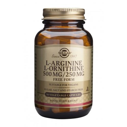 L-ARGININE - L-ORNITHINE 500/250mg veg.caps