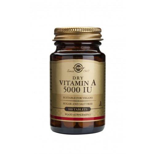 VITAMIN A DRY 5000IU tablets 100s