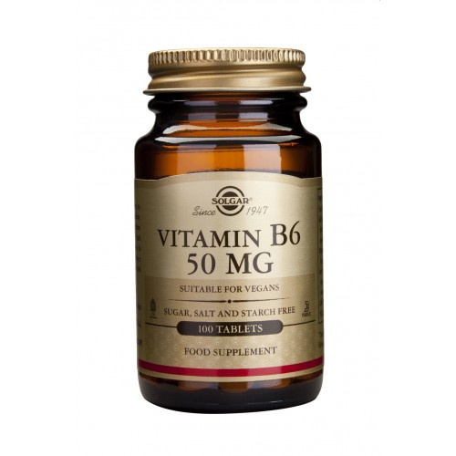 VITAMIN B6 50mg tablets 100s