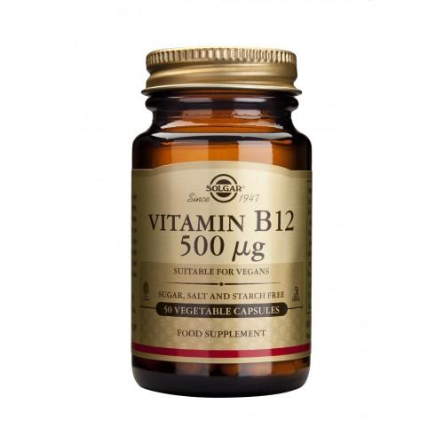 VITAMIN B12 500ug veg.caps 50s