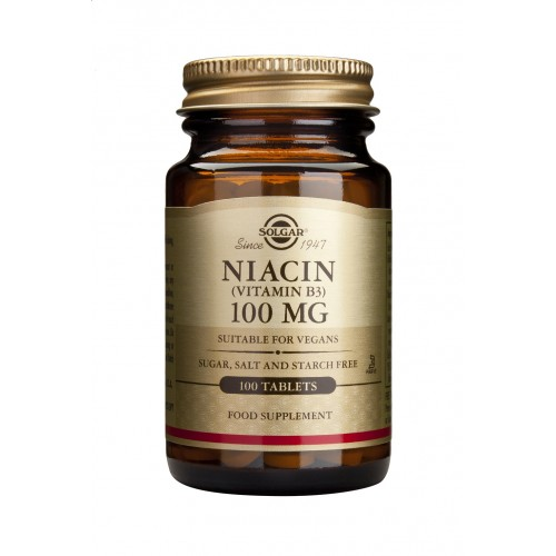 NIACIN (B3) 100mg tablets 100s