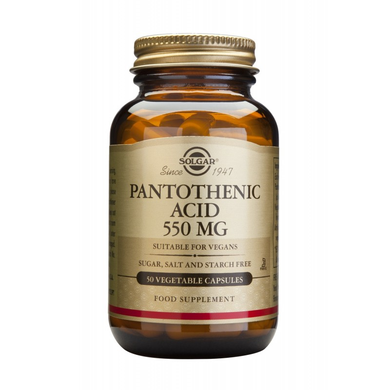 PANTOTHENIC ACID (B5) 550mg veg.caps 50s