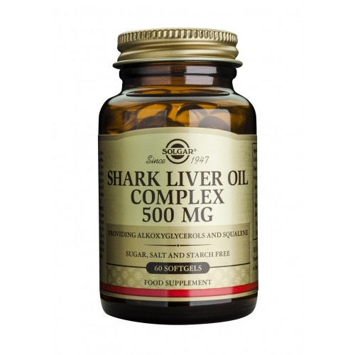 SHARK LIVER OIL COMPLEX 500mg softgels 60s