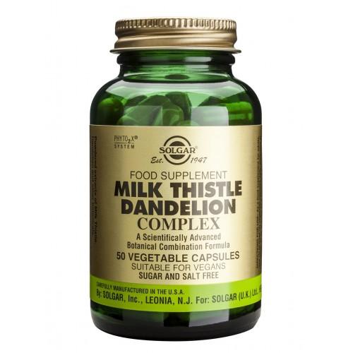 MILK THISTLE / DANDELION COMPLEX veg.caps 50s